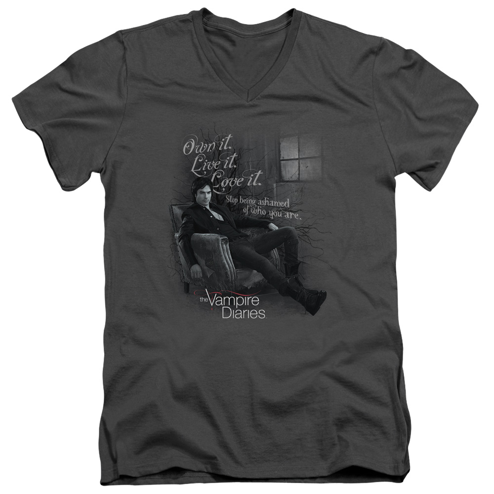 Vampire Diaries Be Yourself Mens V-Neck Shirt