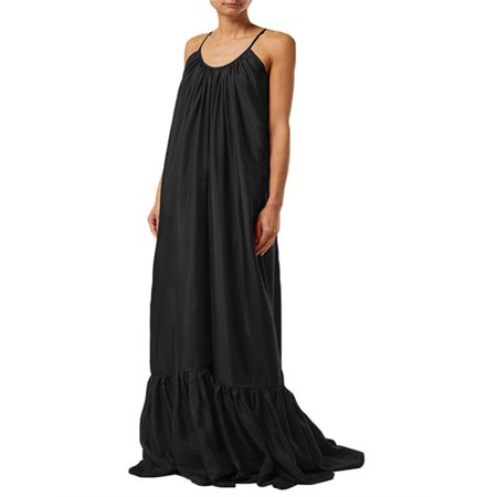 Bohemia Loose Backless Spaghetti Straps Long Maxi Dress Sundress For Women