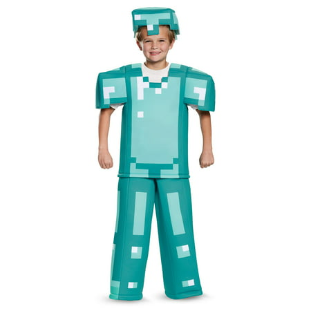 Minecraft Armor Prestige Child Costume - Minecraft Diamond Armor Halloween Costume