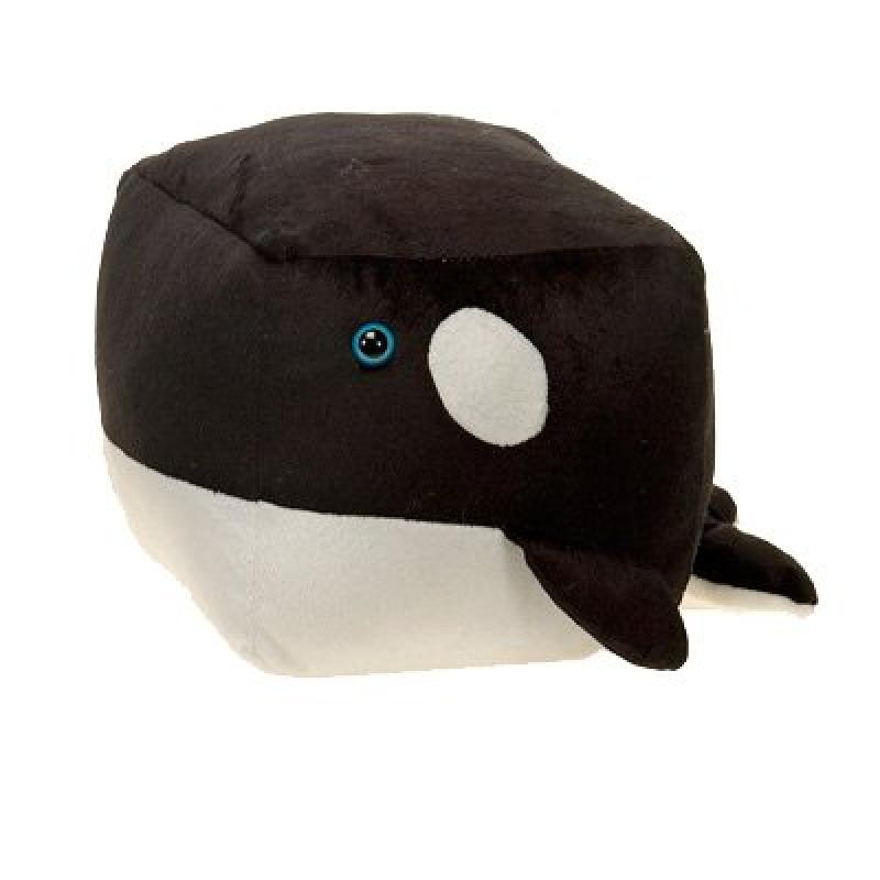 Cute Cube Shaped Plush Orca Whale, square Great For Stacking, 4.5 by DDI
