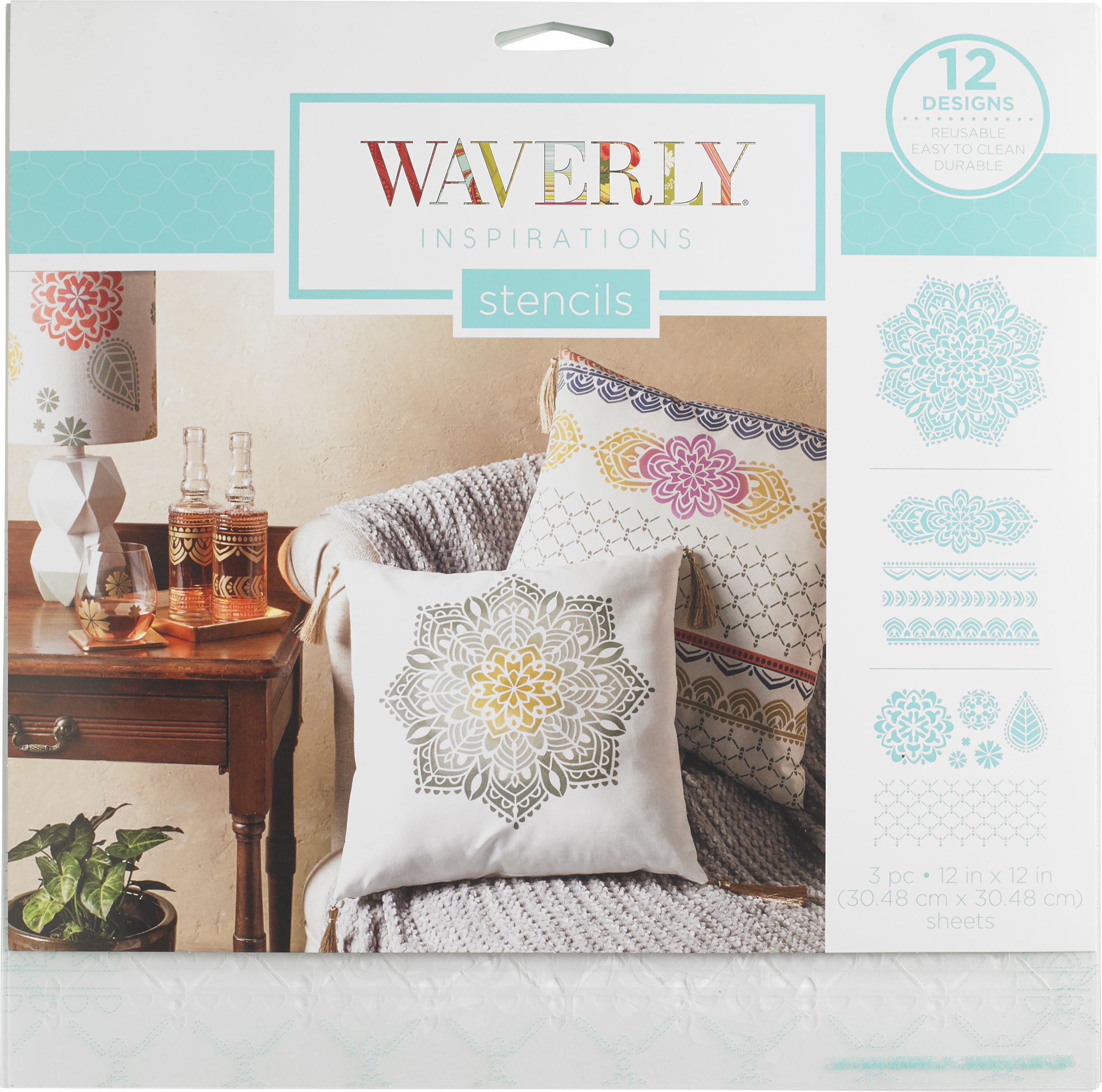 Stencil Plastic Waverly Inspirations 3Pc 12X12 Bohemian