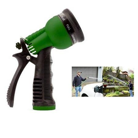 1 Garden Hose Nozzle Water Sprayer 7 Spray Patterns Pressure Streams Rubber Grip - Pattern Water Spray