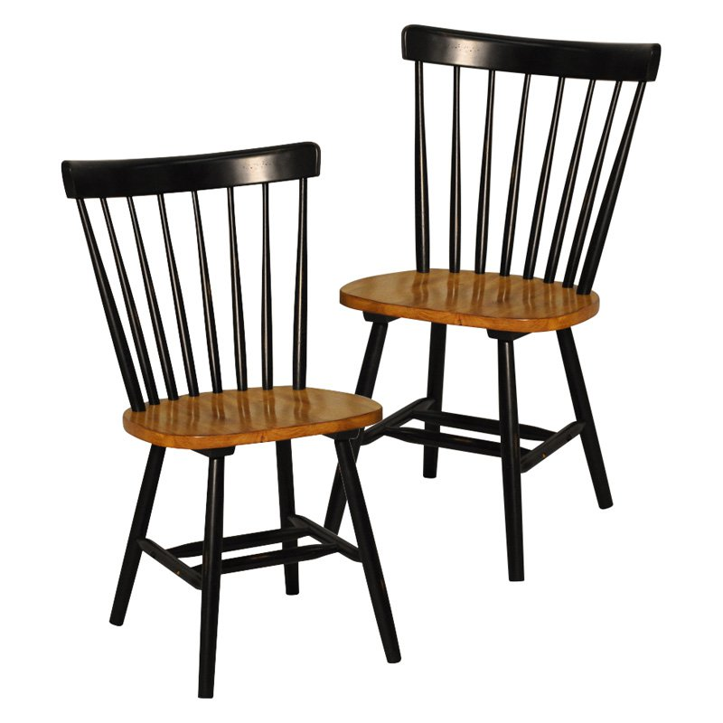 Caprail Dining Side Chair - Black - Set of 2