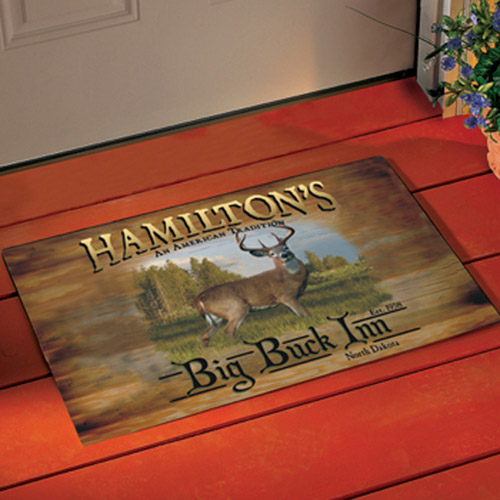 Personalized Big Buck Inn Doormat