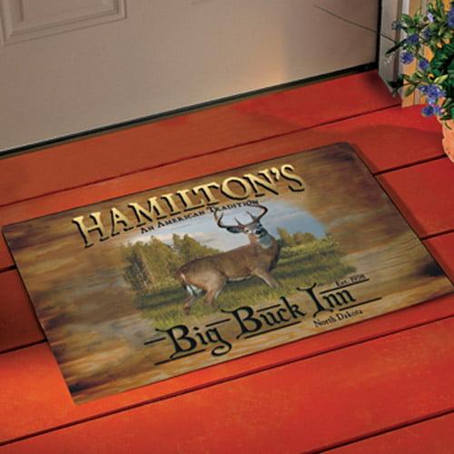 Personalized Big Buck Inn Doormat