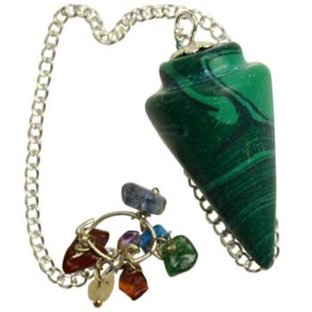 Fortune Telling Toys Divination Question and Answer Pendulum Malachite Gemstone