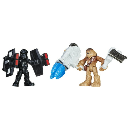 Star Wars Galactic Heroes Chewbacca & First Order TIE Pilot - Chewbacca Voice