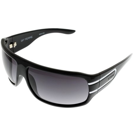 Gianfranco Ferre Sunglasses Unisex FF692 01 Shiny Black White Wrap Size: Lens/ Bridge/ Temple: (Gianfranco Sunglasses)