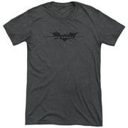 Dark Knight Rises Scratched Logo Mens Tri-Blend Short Sleeve Shirt