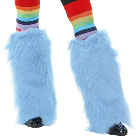 Furry Monster (Adults Womens Cotton Candy Blue  Club Rave Furry Monster Leg)