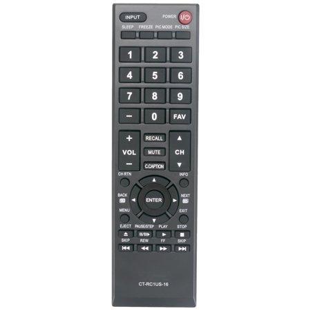 New CT-RC1US-16 Replaced Remote Control compatible with Toshiba TV 40L310U 32L110U 49L310U 55L310U