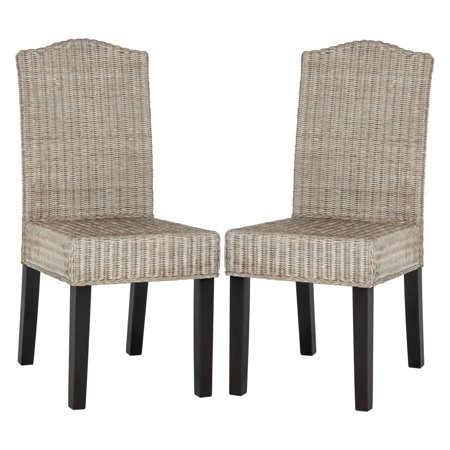 Safavieh Odette Wicker Dining Chair, Multiple Colors, Set of 2 ()