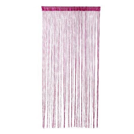Dew Drop Glitter String Curtain Panel Wall Door Partition Room Divider (Fuchsia) 100x200cm