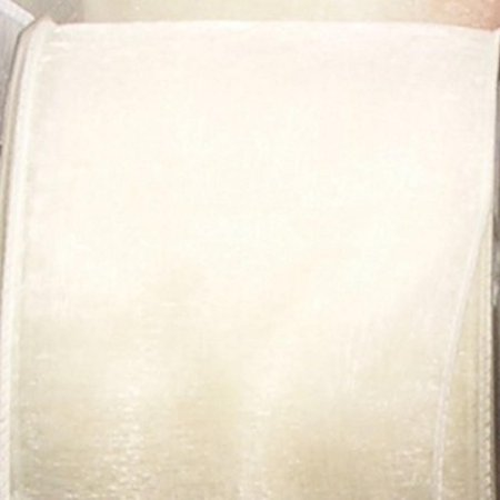 Fx 890 Ribbon (Cream White Sheer Organza Wired Craft Ribbon 6