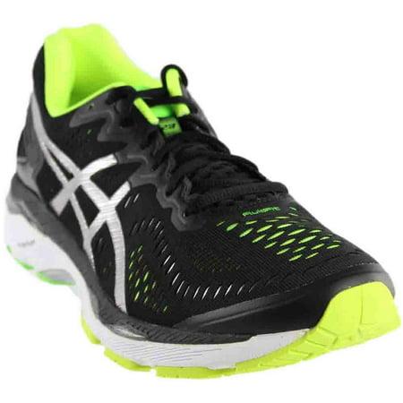 2d0c62965eab Asics - Asics Gel Kayano 23 Black Silver Safety Yellow Mens Athletic Running  Shoes - Walmart.com