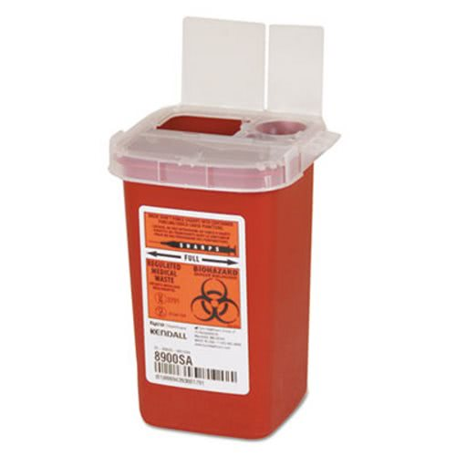 Covidien Sharps Containers, Polypropylene, 1/4 Gal., Red (CVDSR1Q100900)