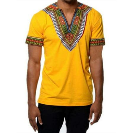 2af987f7f9a9 PODOM - African Tribal Shirt Men Dashiki Printed Succinct Hippie Top Blouse  - Walmart.com