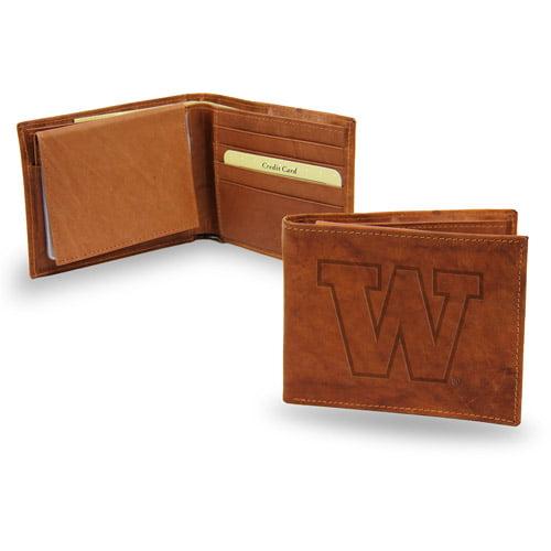 Washington Huskies NCAA Embossed Leather Billfold