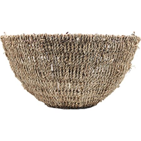 World Source Partners 507819 Woven Rope Hanging Basket  44  Tan  44  14 In