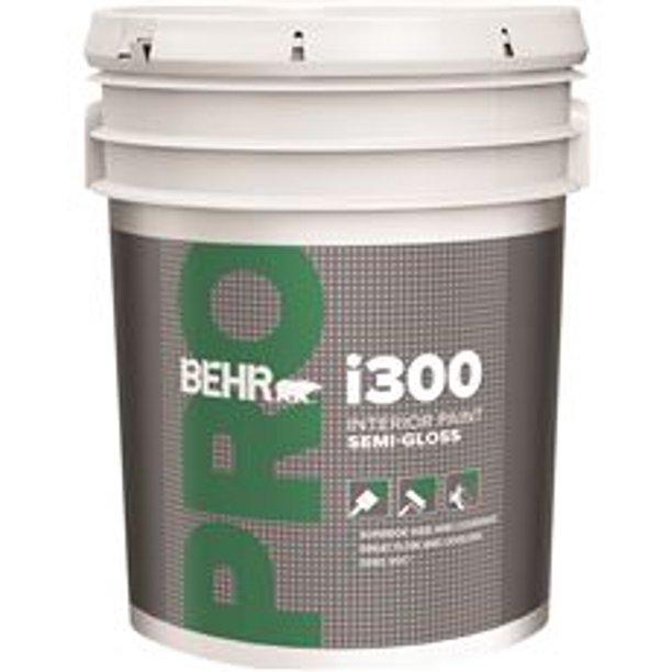 Behr Pro I300 Semi Gloss Interior Paint 5 Gallon Linen White Walmart Com Walmart Com