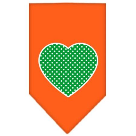 Polka Dot Bandana (Green Swiss Dot Heart Screen Print Bandana Orange)
