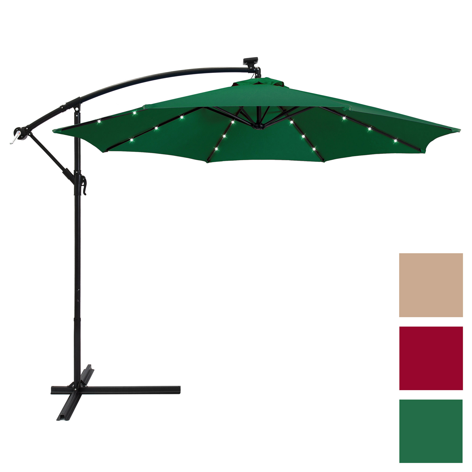 Best Choice Products 10ft Solar LED Patio Offset Umbrella by Best Choice Products