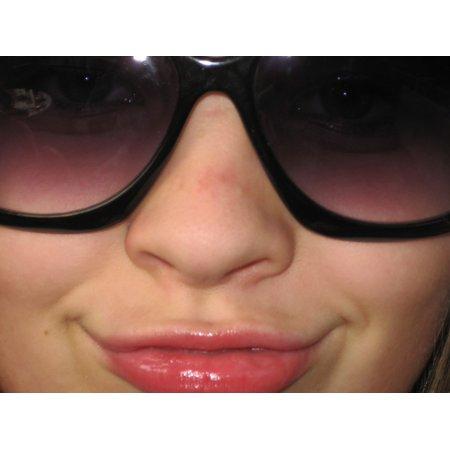 Canvas Print Laugh Cool Person Sun Glasses Sunglasses Face Stretched Canvas 32 x (Glasses That Suit Your Face)