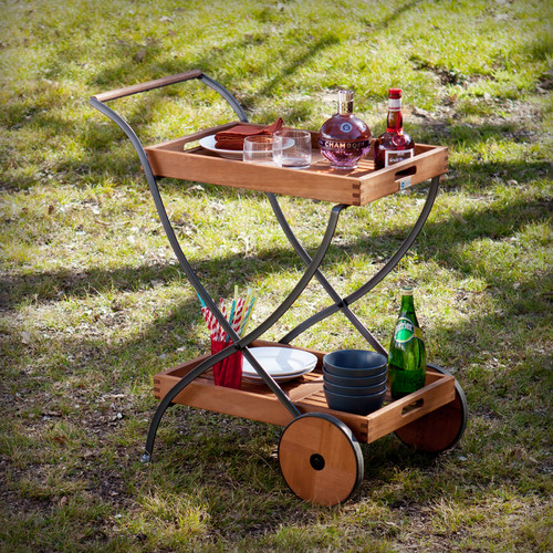 Breakwater Bay Blanchard Outdoor Bar Serving Cart by