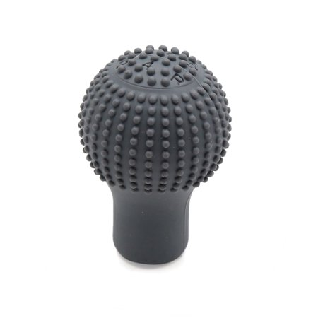 Gray Gear - Gray Soft Silicone Vehicle Car Manual Gear Shift Lever Knob Dust Cover Protector