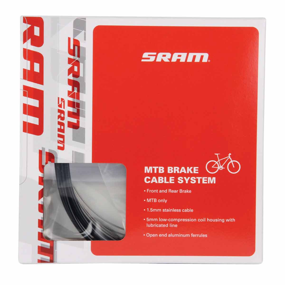 SRAM MTB 5mm Brake Cable and Housing Set, Black