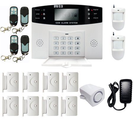 imeshbean gsm wireless wired home security alarm burglar alarm system 108 zones auto dialing. Black Bedroom Furniture Sets. Home Design Ideas