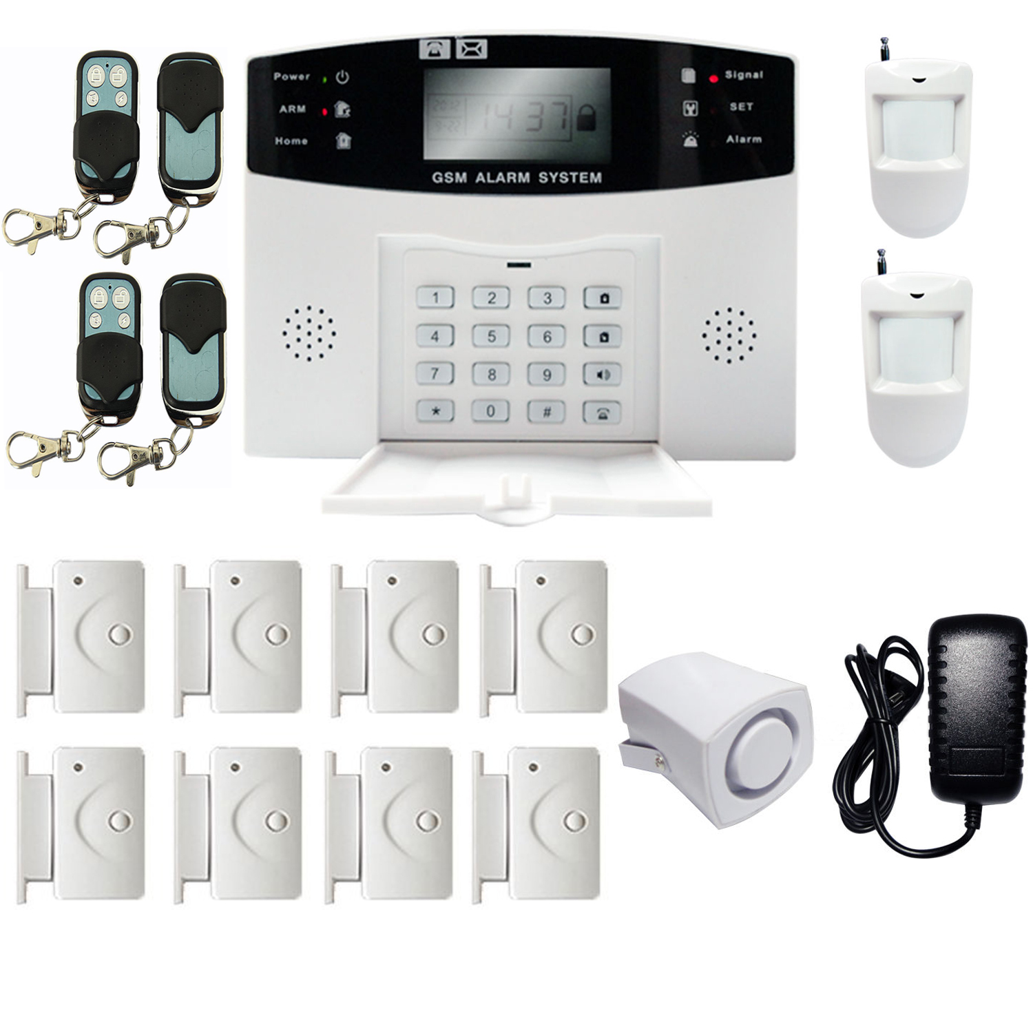 iMeshbean GSM Wireless & Wired Home Security Alarm Burglar Alarm System 108 Zones Auto Dialing DIY KIT