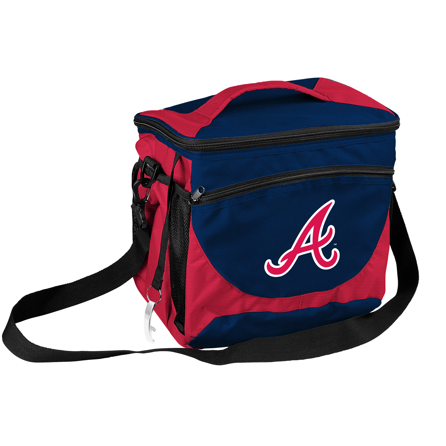 Atlanta Braves Official MLB 12 inch  x 8 inch  x 11 inch  24 Can Insulated Cooler by Logo
