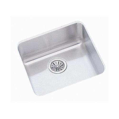 Elkay ELUH1616 Gourmet Lustertone Stainless Steel Single Bowl Undermount Sink