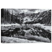 Cortesi Home 'Dream Lake Morning' by Darren White Photographic Print on Wrapped Canvas
