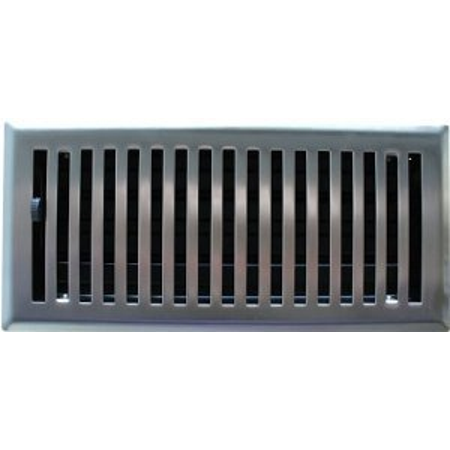 4 X 14 Brushed Nickel Contemporary Floor Register Vent