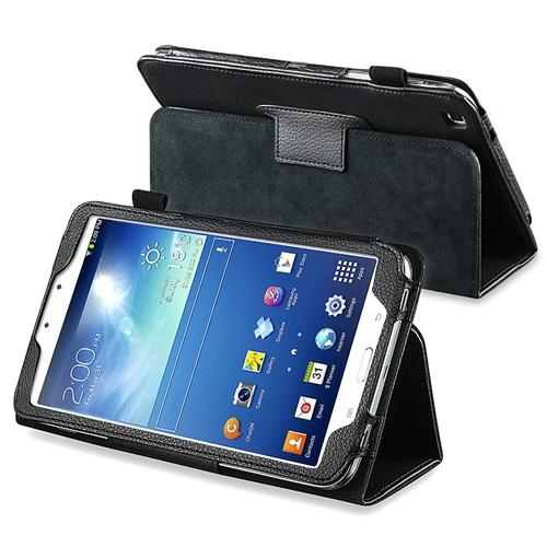 Insten Black Leather Case Cover with Stand For Samsung Galaxy TAB 3 8.0 T3100 T3110 T3150