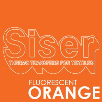 Siser Easyweed Fluorescent Orange Iron Heat Transfer Vinyl Roll HTV (Choose Your Size)