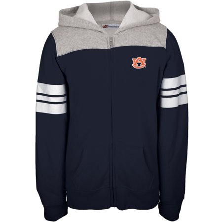 Auburn Tigers   Game Day Sports Stripes Girls Youth Zip Hoodie