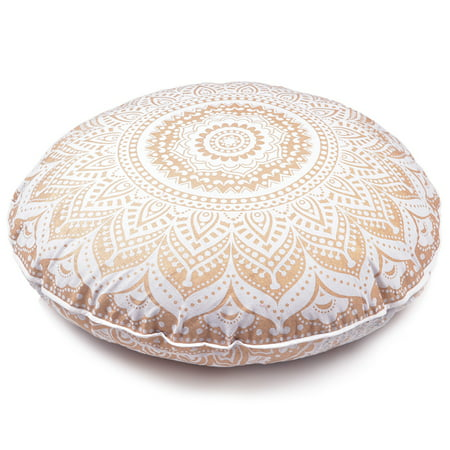 Oversized Decorative Pillow Covers : Large Oversized Golden Throw Decorative Toss Floor Pillow cover Cushion Cover Mandala - 32 ...