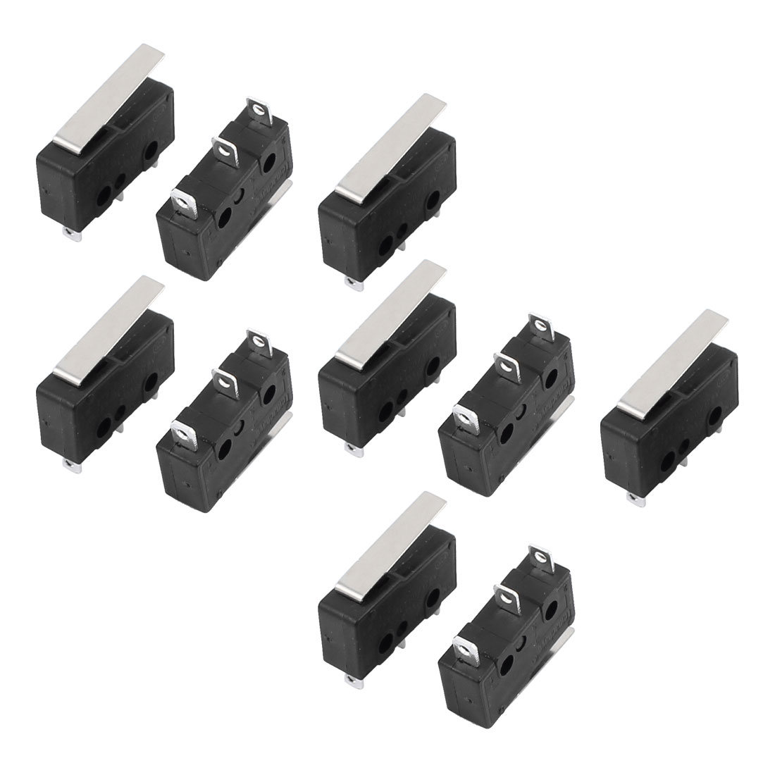 10Pcs AC250/125V 3A 3P Momentary 18mm Lever Arm Micro Switch KW12-1