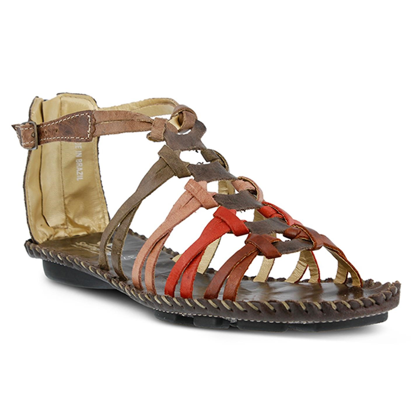 Sheldony By Spring Step Brown Womens Leather Sandal 37 EU   7 US Women by Spring Step