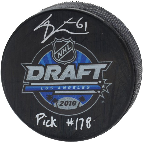 "Mark Stone Vegas Golden Knights Autographed 2010 NHL Draft Logo Hockey Puck with ""Pick #178"" Inscription - Fanatics Authentic Certified"