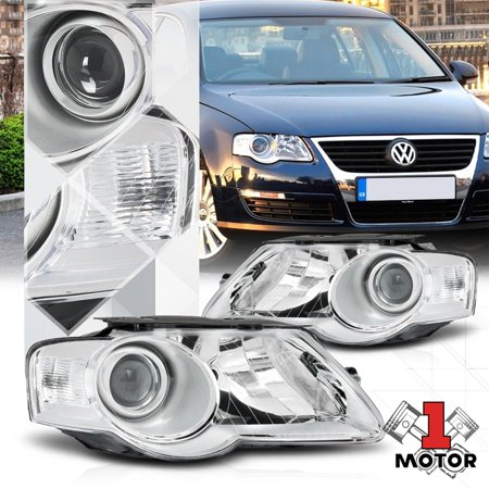 Chrome Housing Clear Turn Signal Projector Headlight Lamp for 06-10 VW Passat B6 07 08 09