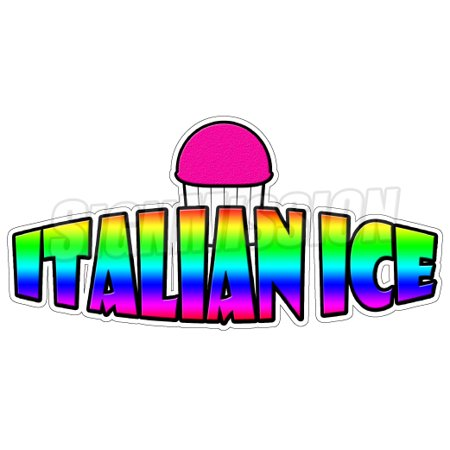 ITALIAN ICE I Concession Decal menu cart trailer stand sticker equipment](Concessions Stand)