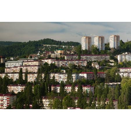 Elevated City View From Vinogradnaya Street Sochi Black Sea Coast Krasnodar Krai Russia Poster Print Walmart Com