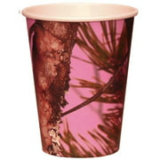 Pink Camo 12 Oz. Paper Cups (8 Count)
