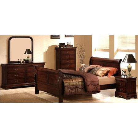 Homelegance Chateau Brown 5 Pc Sleigh Bedroom Set  3116 Product Photo