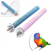 Bluelans Pet Parrot Budgie Chew Bite Paw Grinding Rod Toy Bird Cage Play Stand Perches