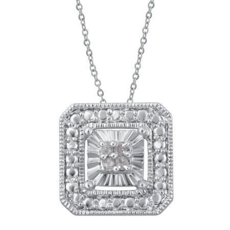 Diamond Accent Sqaure frame Pendant (Diamond Frame Pendant)